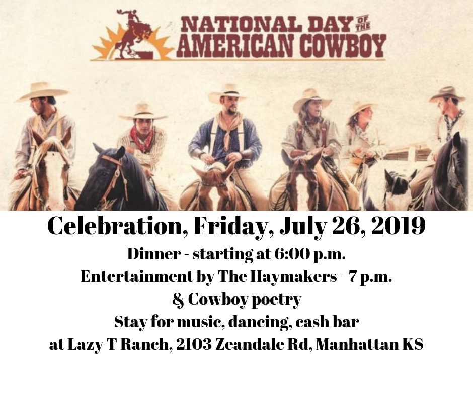 Celebration Friday July 26 2019 6 00 p.m. Dinner Entertainment by the Haywards 3