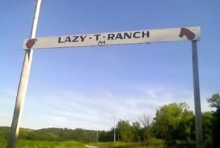 Entrance to the Lazy T Ranch in NE Kansas